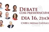 CNBB promoverá debate com presidenciáveis no dia 16 de setembro