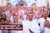 Pe. Marcelo Rossi recebe homenagem dos devotos de N. S. do Perpétuo Socorro de Campo Grande/MS
