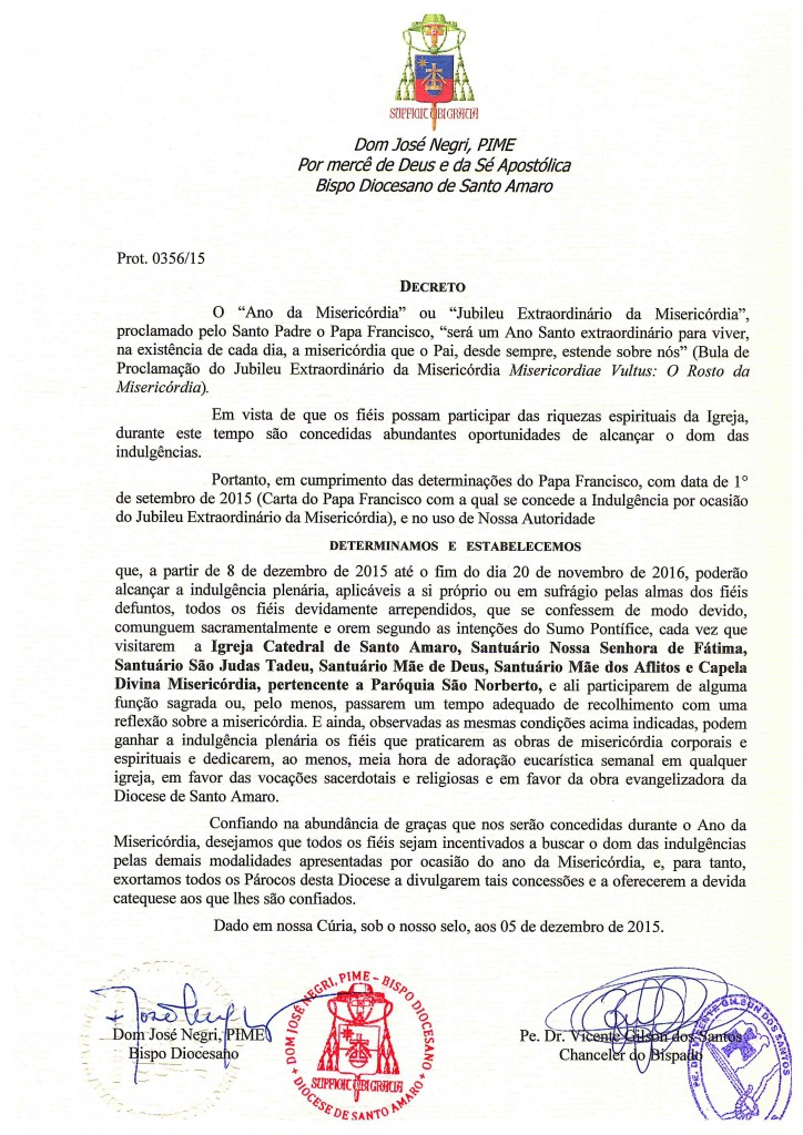 Decreto do ano da Misericórdia