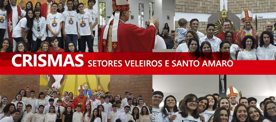 Paróquias dos setores Santo Amaro e Veleiros recebem o bispo diocesano para a celebração da Crisma