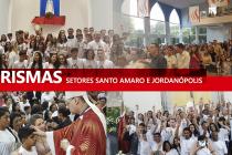 Paróquias dos setores Santo Amaro e Jordanópolis recebem o bispo diocesano para a celebração da Crisma