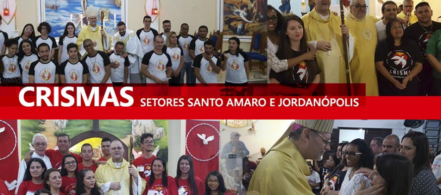 Paróquias do setor Jordanópolis recebem o bispo diocesano para celebração da Crisma