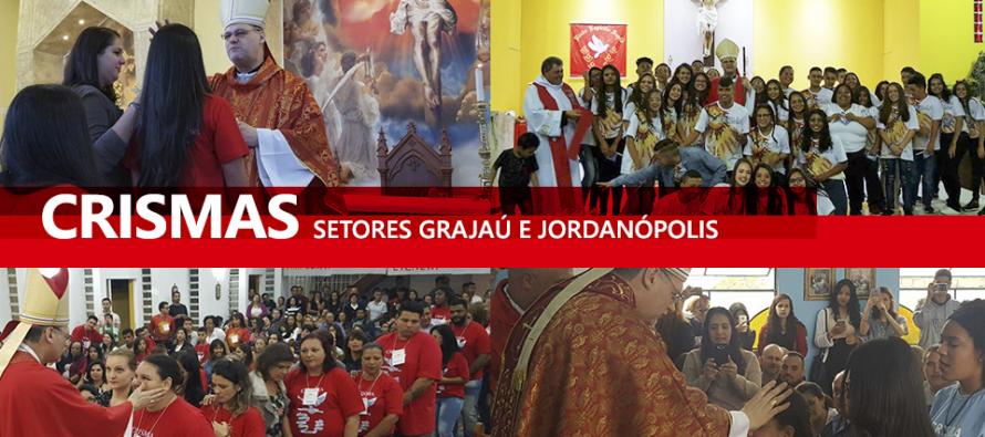 Paróquias do setor Jordanópolis e Grajaú recebem o bispo diocesano para celebração da Crisma