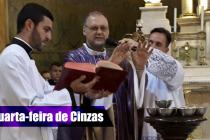 Bispo diocesano celebra missa da Quarta-feira de Cinzas na Catedral