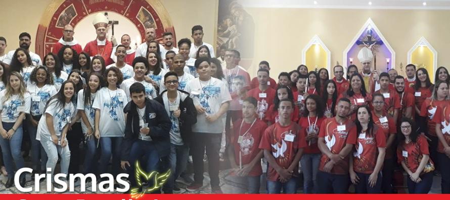 Jovens de cinco paróquias do setor Parelheiros são crismados pelo bispo diocesano