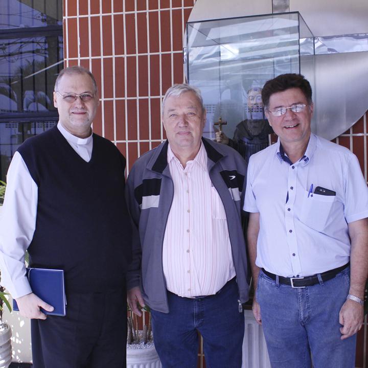 Dom José com o Frei Hans e Nelson Rosendo