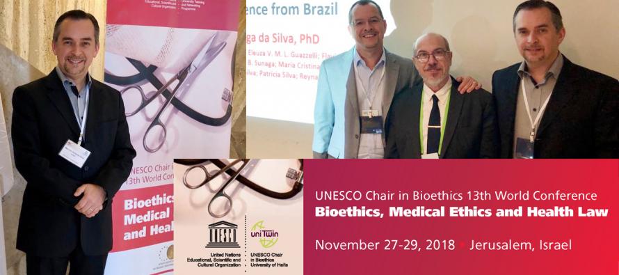 Padre Marcelo Antônio participa da 13ª Conferência Mundial de Bioética da UNESCO em Israel