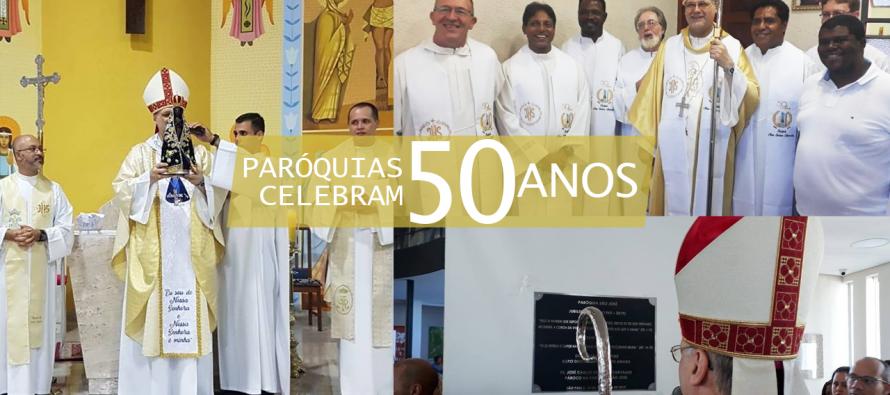 Paróquias celebram 50 anos de criação