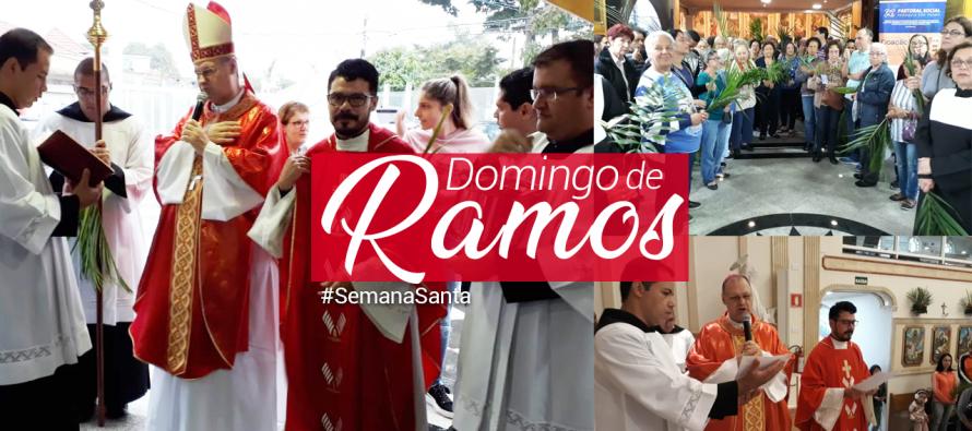 Bispo diocesano celebra o Domingo de Ramos na Paróquia São Pedro Apóstolo