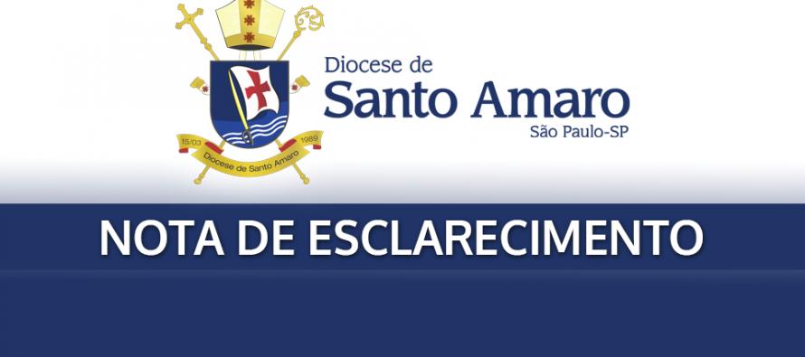 Nota de Esclarecimento – Diácono Carlos Valério Batista de Aguiar