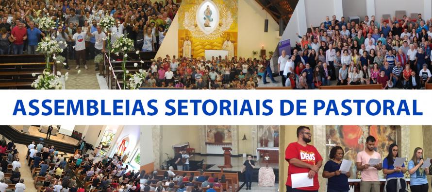 Assembleias Setoriais de Pastoral reúnem coordenadores e membros de pastorais dos 11 setores diocesanos
