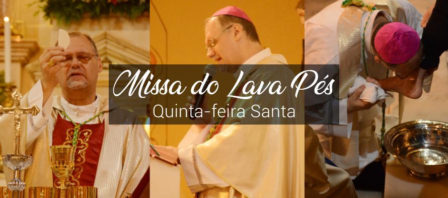 Quinta-feira Santa: Celebração do Lava-pés na Catedral de Santo Amaro, Abade