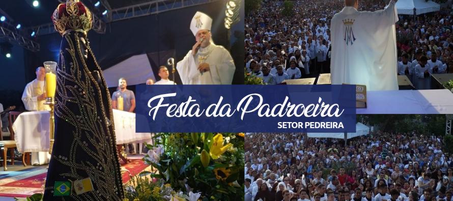 Festa da Padroeira reúne milhares de fiéis no Setor Pedreira