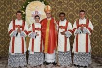 Quatro jovens seminaristas do IVE são ordenados diáconos por Dom José
