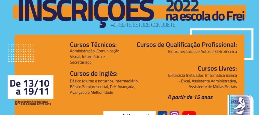 Para 2022:  Inscrições abertas para cursos profissionalizantes no Instituto Social N.S. de Fátima
